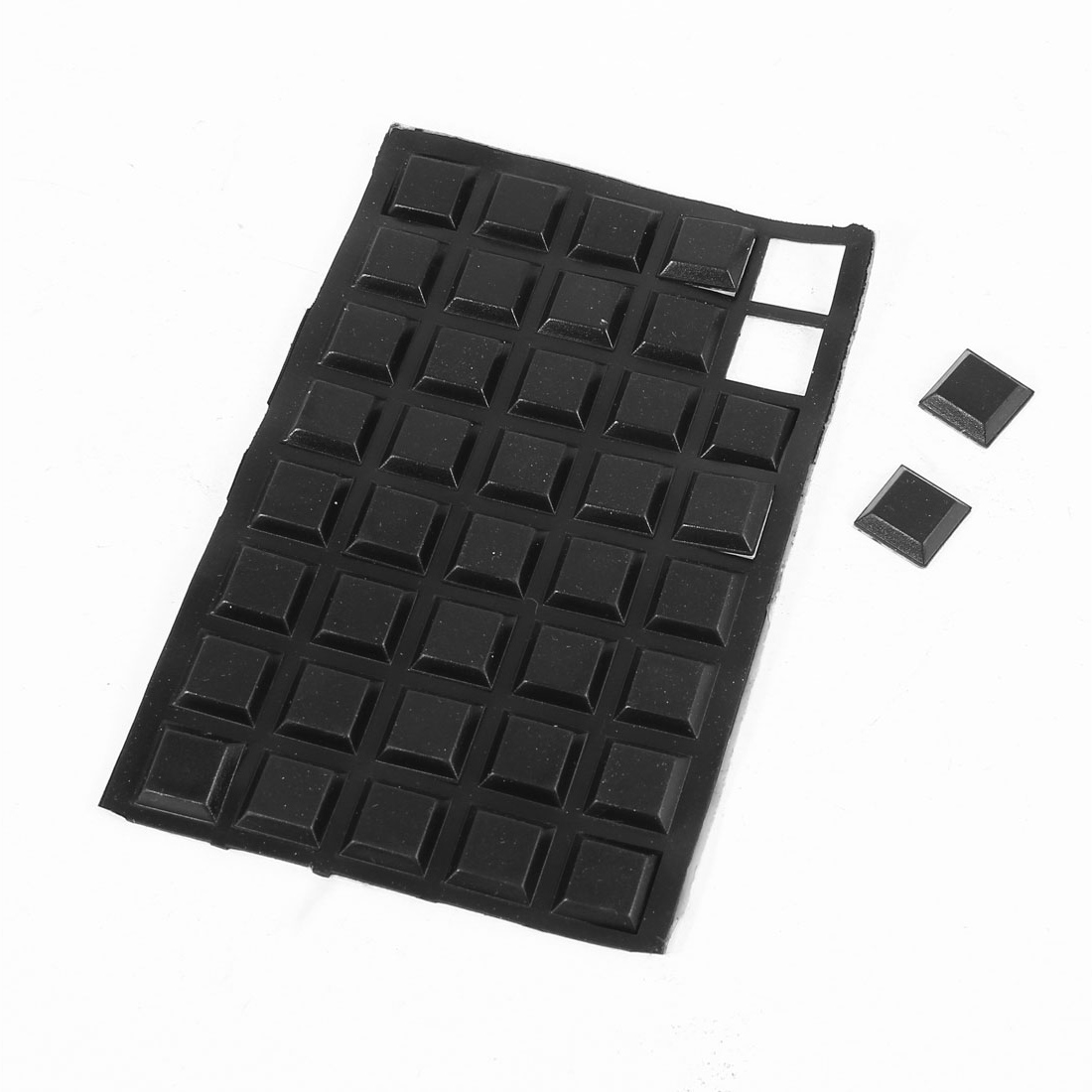 40 Pcs Rubber Self Adhesive Furniture Table Chair Foot Protector Pads 12x12x3mm