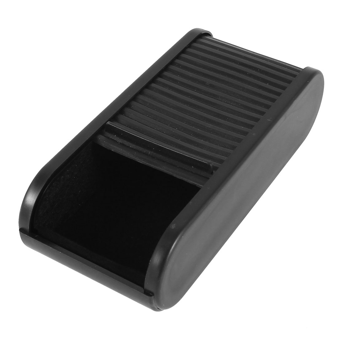 Car Black Plastic Slide Design Watch Pen Drawer Storage Holder
