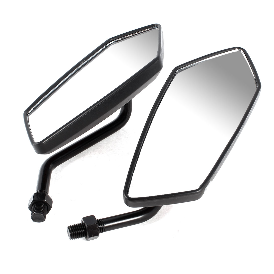 2 Pcs Black Red Gecko Pattern Motorcycle Blind Spot Rear View Mirror