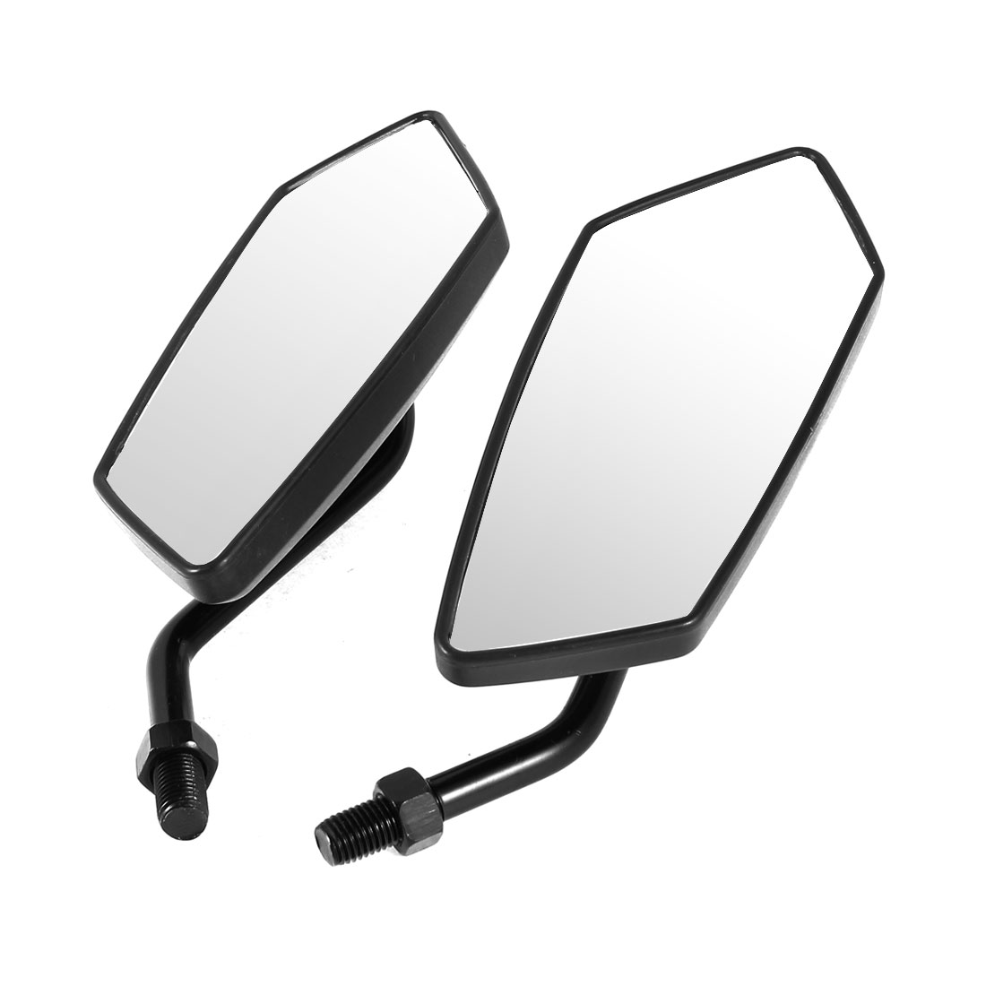 2 Pcs Black Blue Gecko Prints Rearview Mirrors for Motorcycle Motorbike Scooter