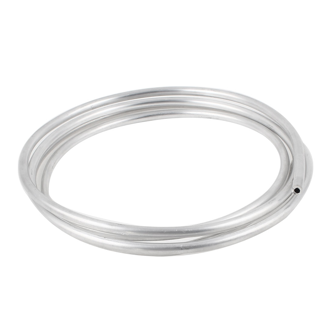 Silver Tone 3.5mm Diameter Hole 6mm Aluminum Hose Pipe 2 Meters 6.5Ft
