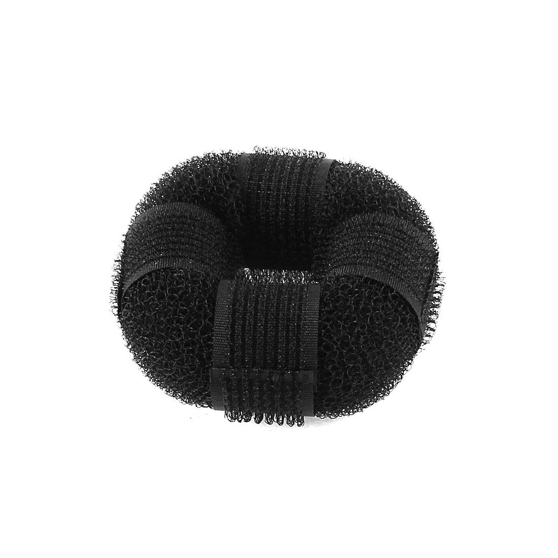 Hairdressing Tools Magic Donut Bun Circle Updo Ring Hair Device Band Black
