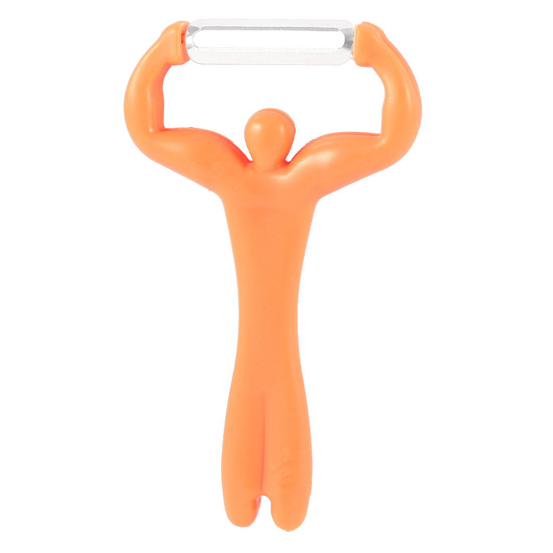 Man Design Stainless Steel Peeler Parer Clear Orange for Fruits Vegetable