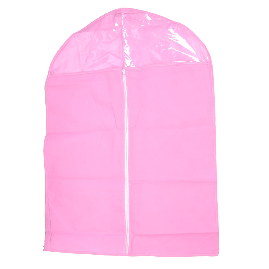 Home Pink Clear Non-woven Breathable Garment Suit Dress Cover Bag 83 x 57cm