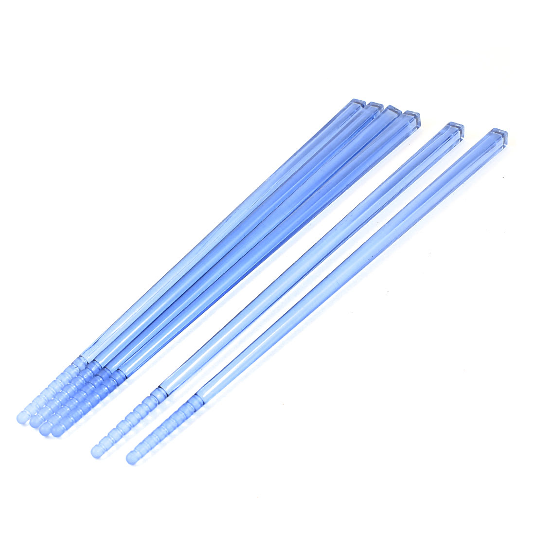 3 Pair Home Kitchen Environmental Protection Resin Chinese Traditional Utensils Cutlery Chopsticks Set Light Blue