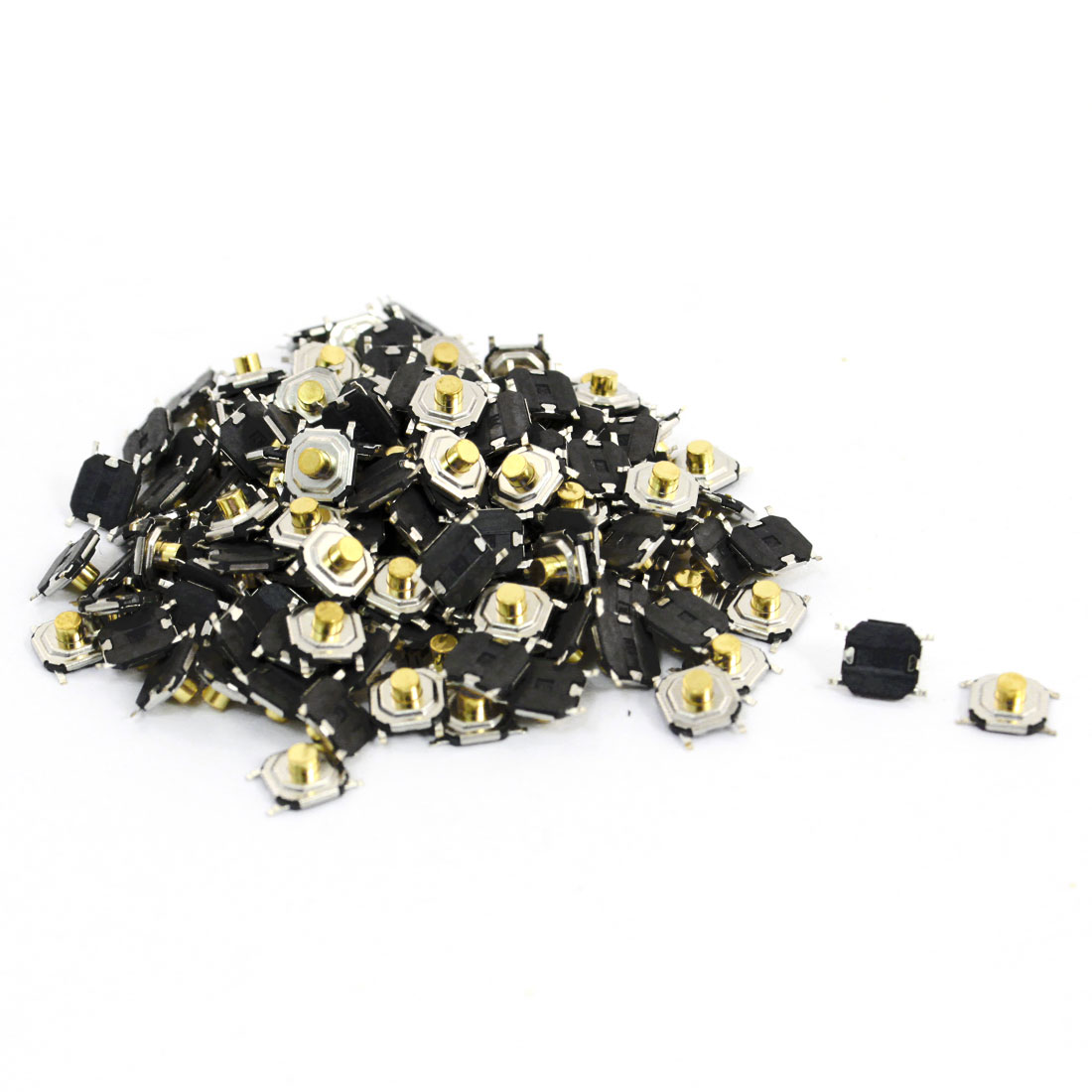 150pcs SMT Momentary Action 4 Pin Terminals Tactile Switches 4x4x2.5mm