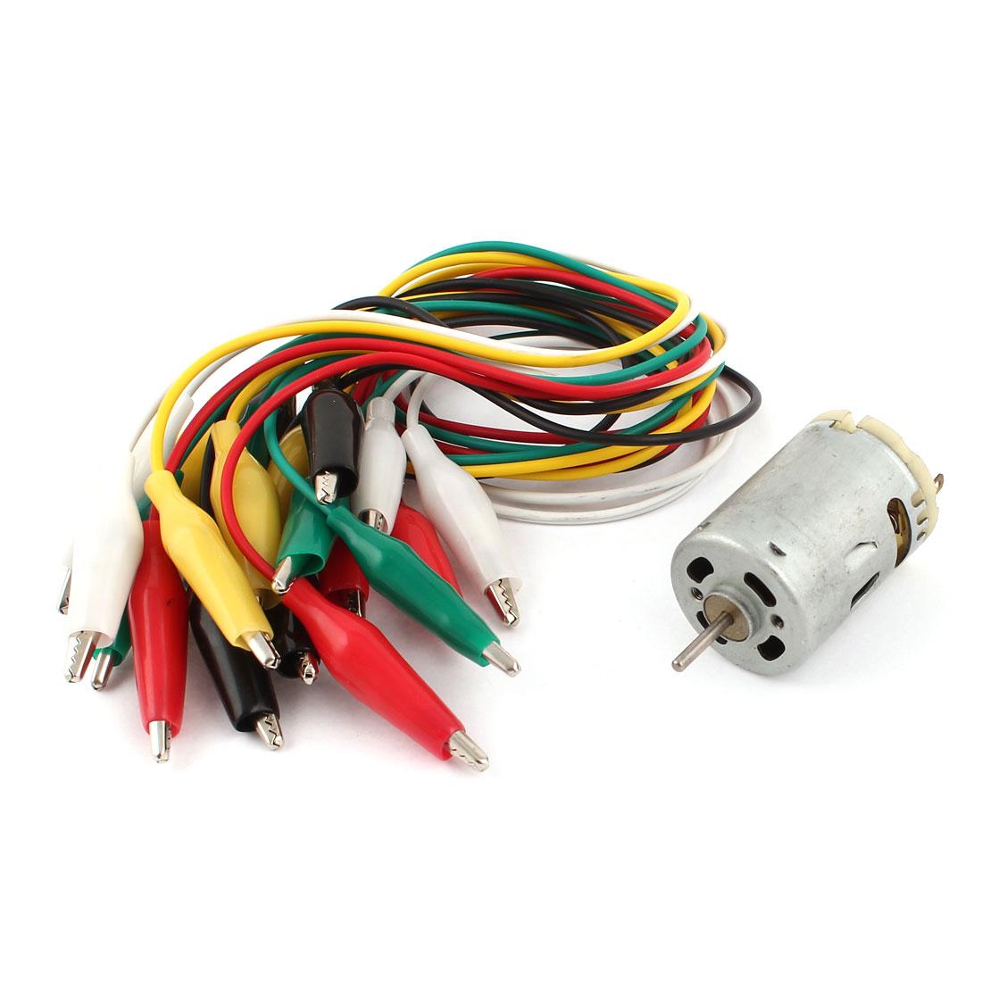 Electric Magnetic Motor 9000-15000RPM DC 6V-12V + 10 Pieces Alligator Clip Wires