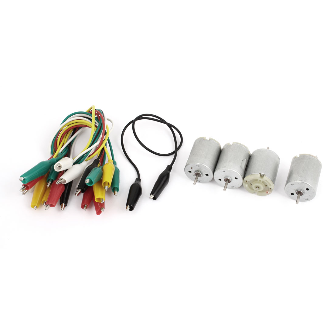 4Pcs DC 6V 9000RPM 2 Terminals Type 280 Miniature Mini Motor w Alligator Clip Cable
