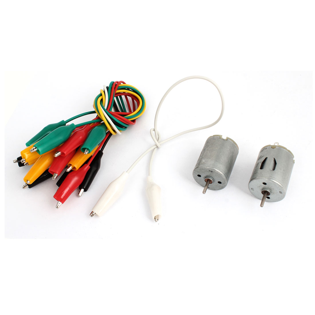 2Pcs DC 6V 2 Terminals Type 280 Miniature Mini High Torque Motor 9000RPM w Alligator Clip Cable