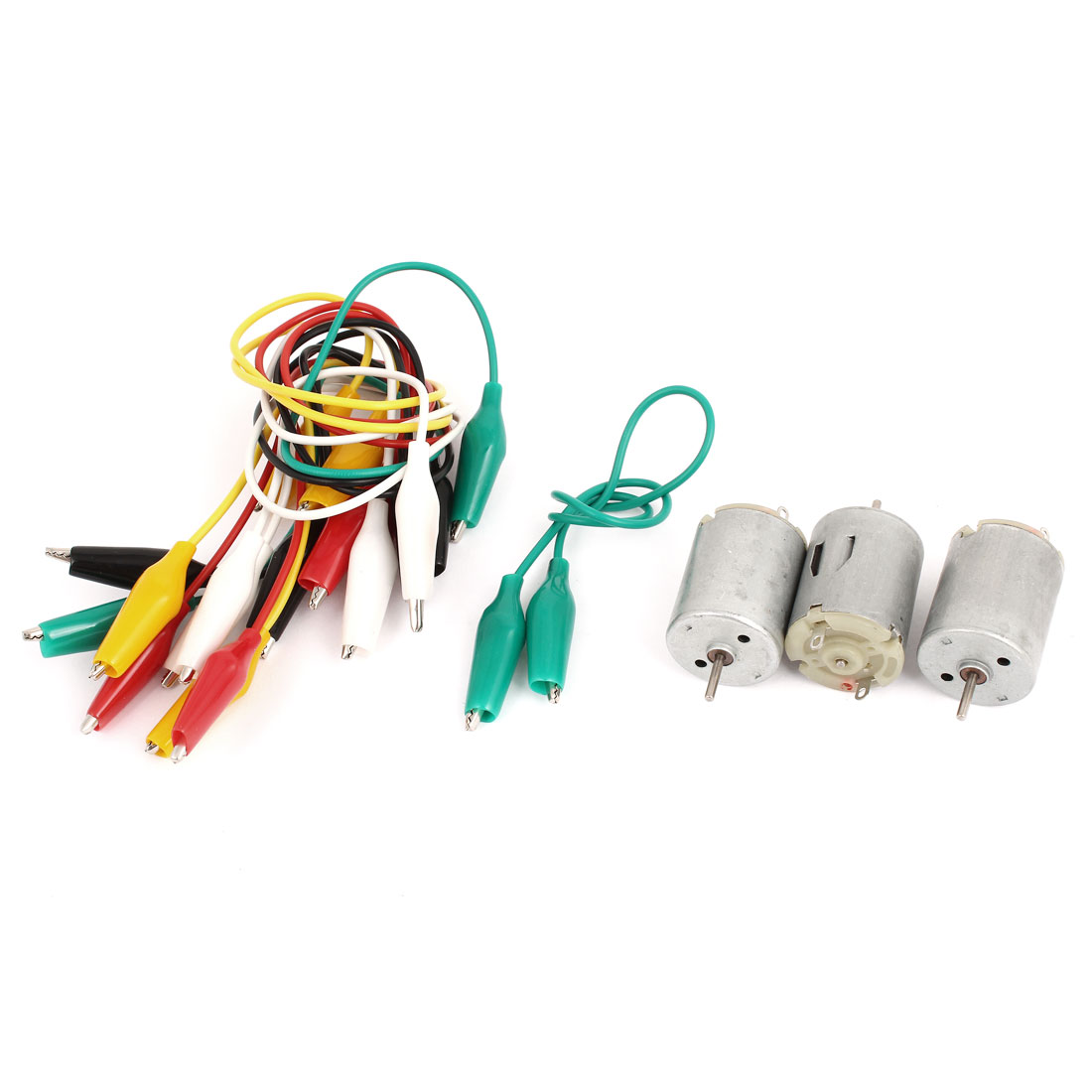 3Pcs DC 6V 2 Terminals Type 280 Miniature Mini High Torque Motor 9000RPM w Alligator Clip Cable