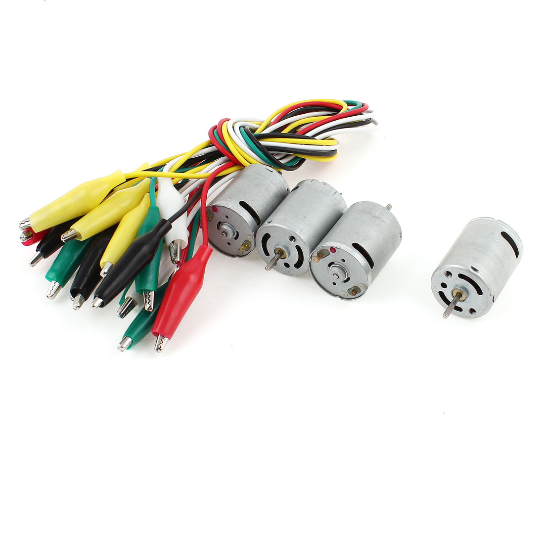4 Pcs DC 3V Magnetic Electric Motor 3000RPM w 10 Pieces Alligator Clip Wire