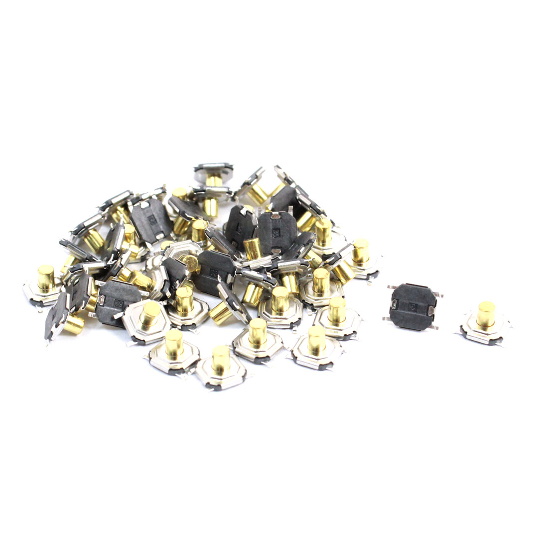 50 Pcs 4x4x3.5mm 4 Pin PCB Momentary Tactile Tact Push Button Switches