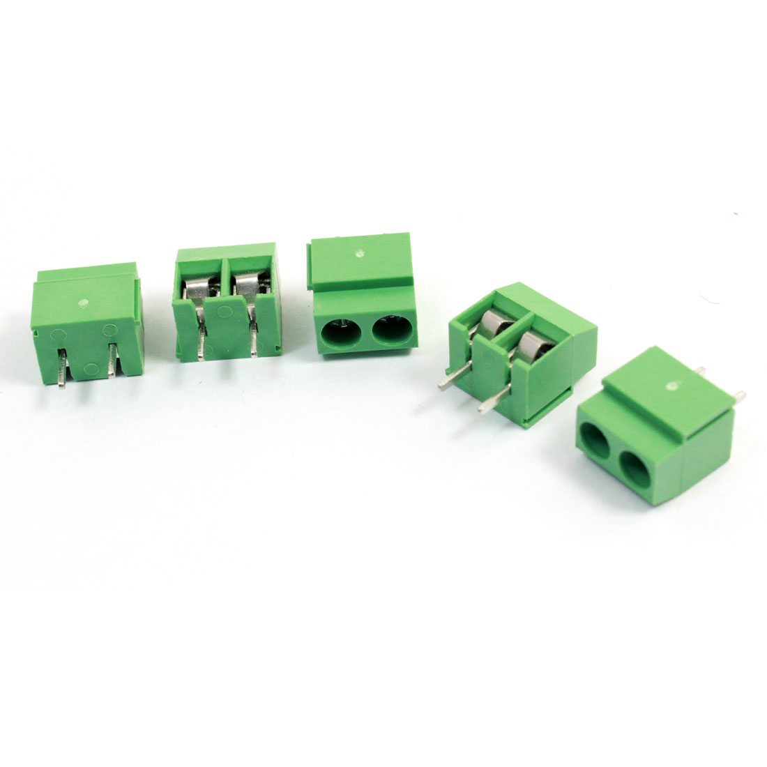 5 Pcs 126-2P 5mm Pitch Screw Terminal Block Connector 300V 10A