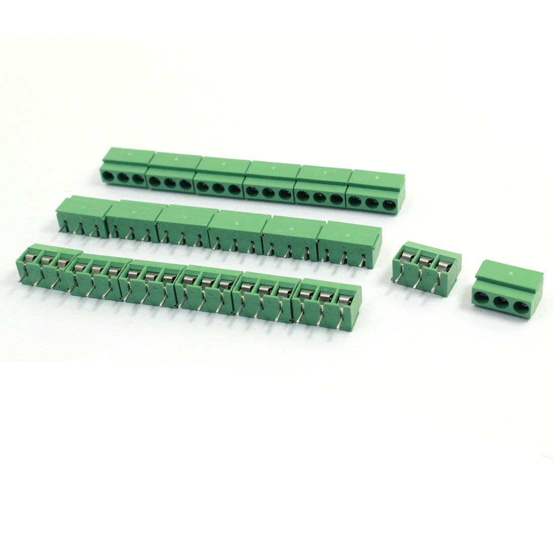 20 Pcs 126-3P 3Pin 5mm Pitch Screw Terminal Block 300V 10A