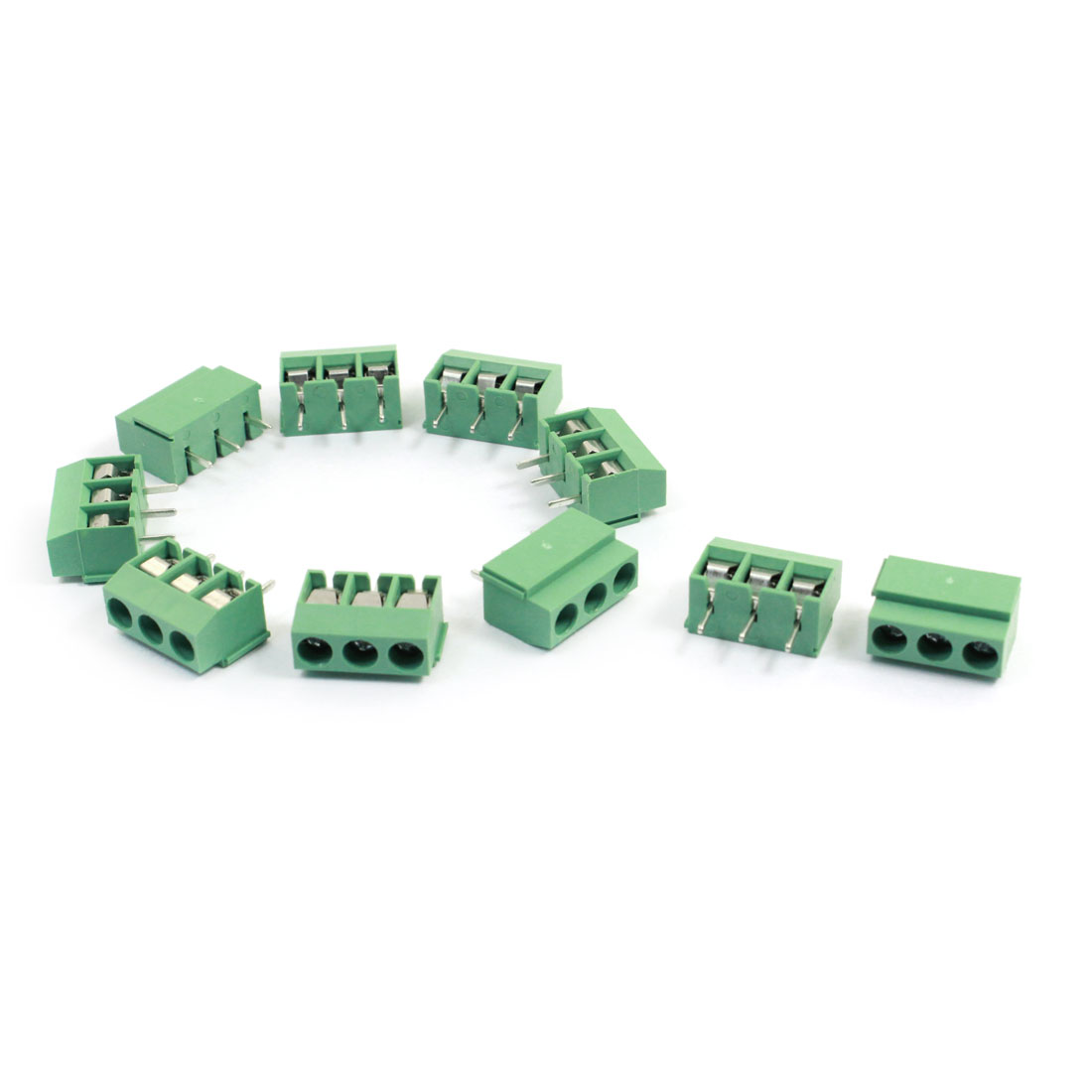 10Pcs 120-3P 3 Position 3 Pin 5mm Pitch Screw Terminal Block 300V 10A