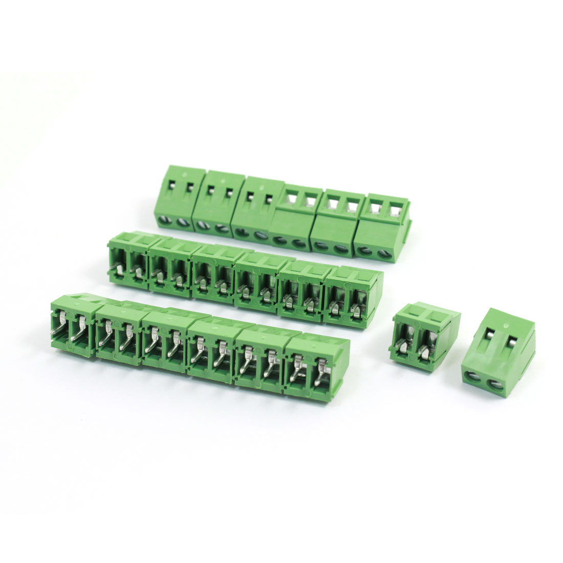 20Pcs 128-2P 5mm Pitch Screw Terminal Block 300V 10A