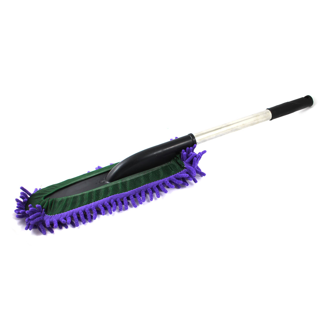 "Foam Coated Plastic Handle Handgrip Purple Microfiber Chenille 27.5"" Cleaning Dirt Wash Dust Brush Duster for Vehicle Autos Cars"