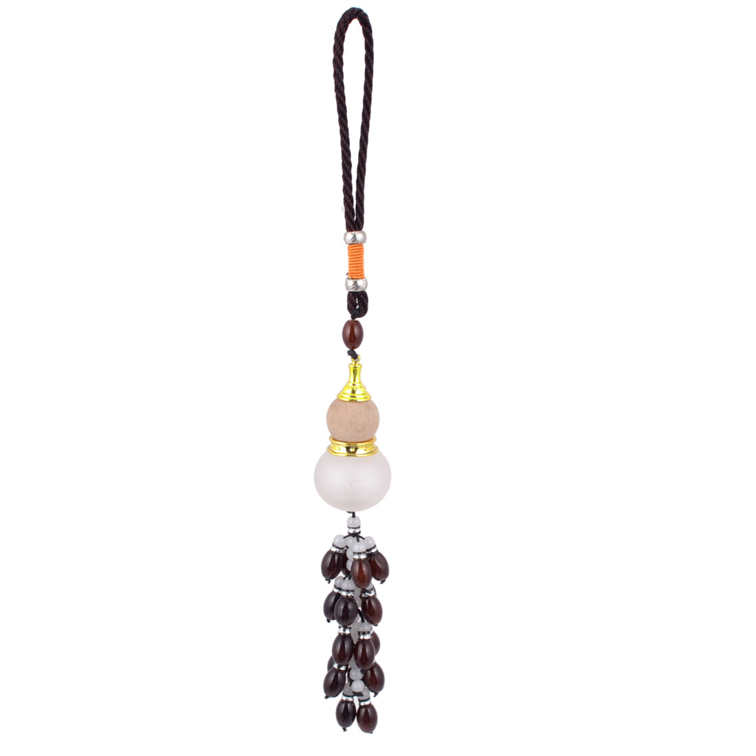 Car Calabash Shaped Perfume Bottle Beads Pendant Hanging Decoration Brown