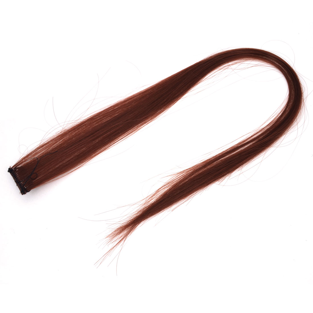 Woman Cosplay Synthetic Fiber Headdress DIY Straight Long Hair Wig Brown 21.2""