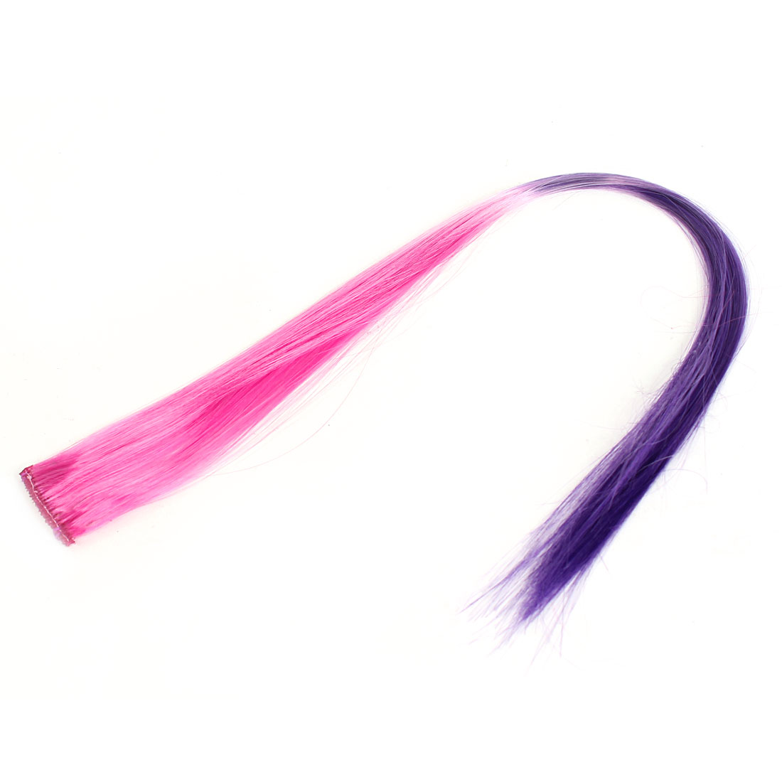 Costume Party Clip Design Straight Hair Wig Fall Purple Pink 19""