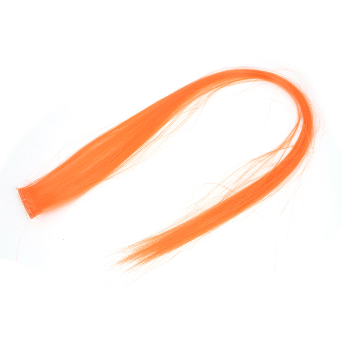 Lady Cosplay Headdress Straight Long Hair Clip Wig Fluorescent Orange 21.2""