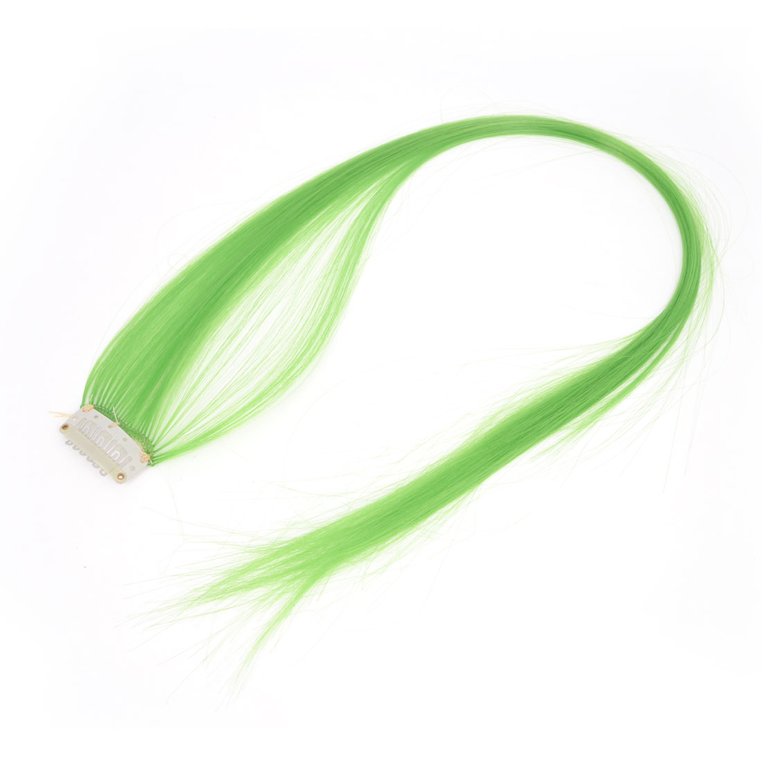 "Costume Play Grass Green Straight Hair Clip Wig Hairpiece 23.2"" for Ladies"