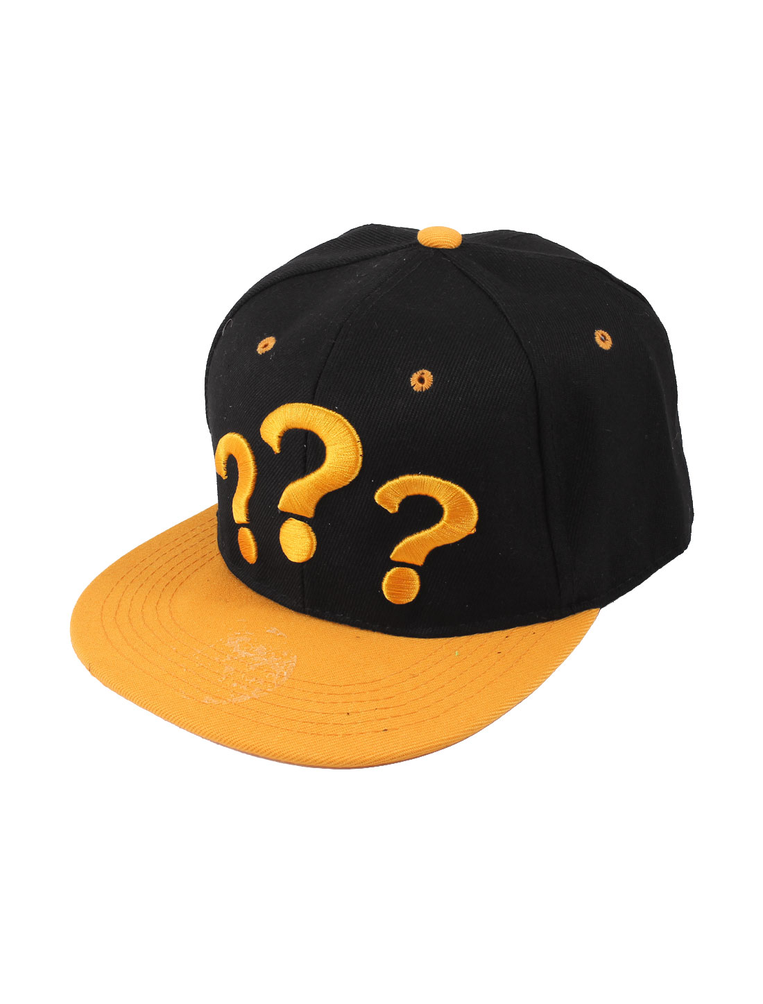 Unisex Orange Question Mark Detailed Adjustable Hip-hop Cricket Ball Golf Tennis Baseball Sun Visor Cap