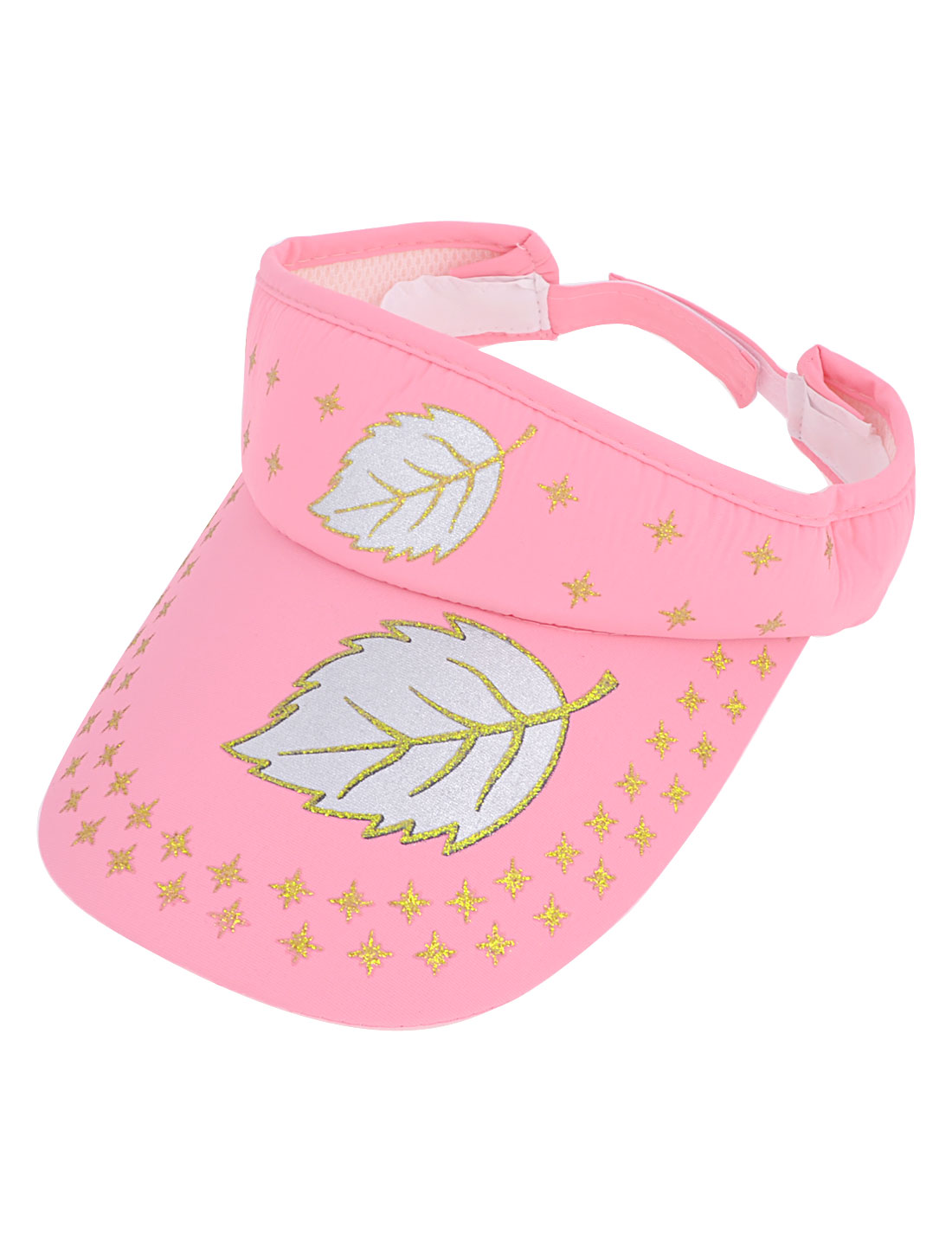 Outdoor Camping Leaves Printed Adjustable Open Top Sun Visor Cap for Lady