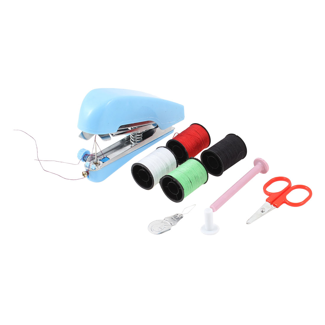 Housewife Portable Handheld Mini Sewing Machine Scissor Spools Set