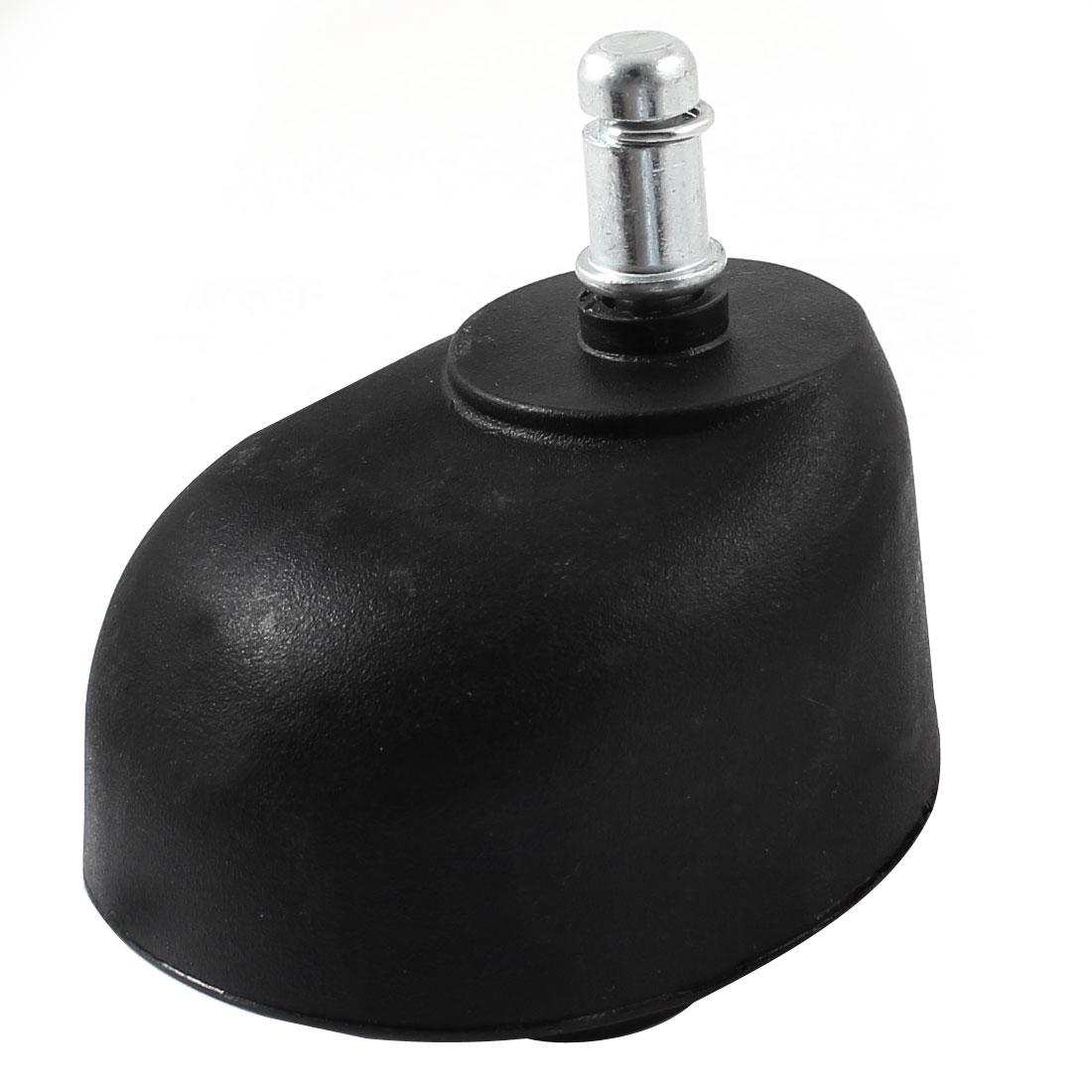 Office Chair Shopping Cart 11mm Lock Shaft Dia Plastic Housing Double Roller Grip Ring Stem Caster Wheel