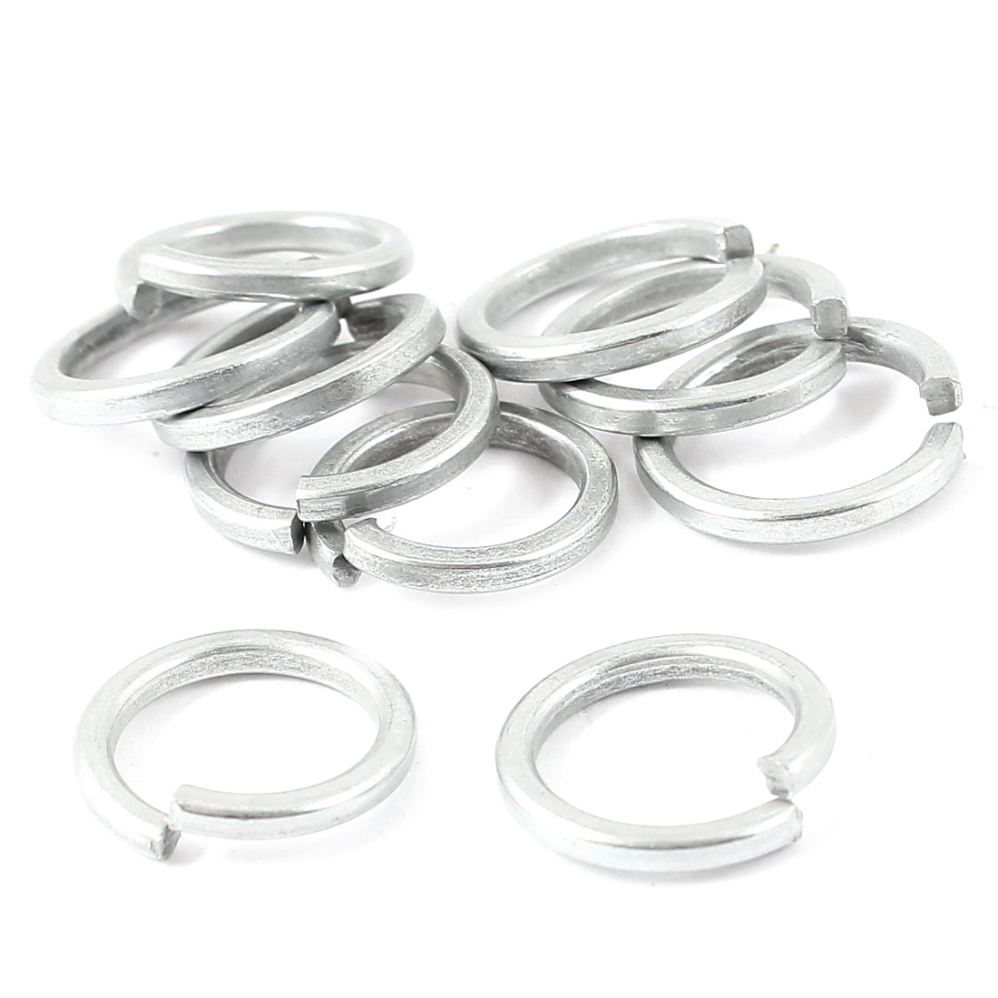 10 Pcs 10mm x 14mm x 2mm Metal Split Lock Sealing Ring Spring Washer Fastener