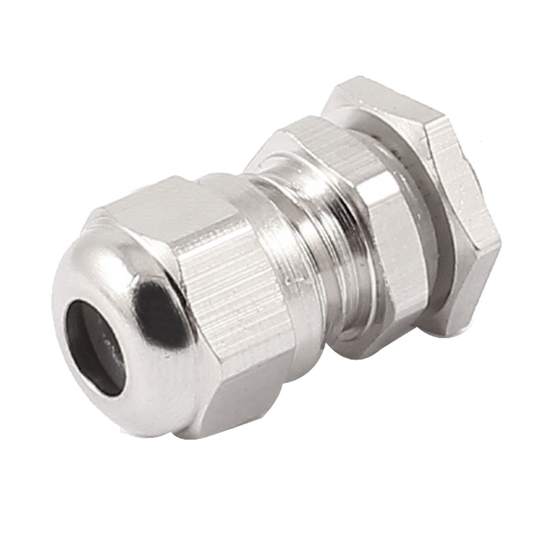 M8x1 2-5mm Dia Wire 10mm OD Thread Metal Waterproof Connector Fastener Locknut Stuffing Cable Gland