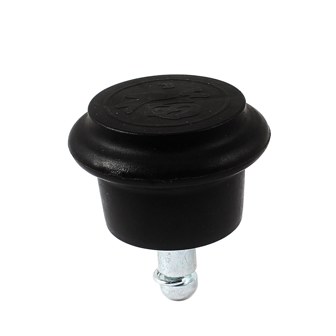 11mm x 22mm Lock Stem 52mm Diameter Black Plastic Base Furniture Glide Leveling Feet Mounting
