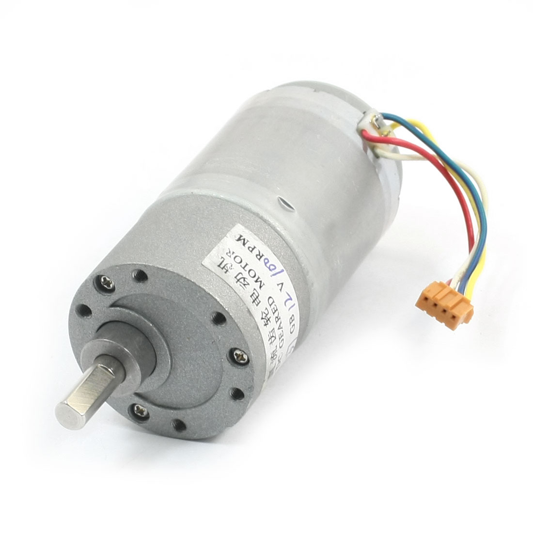 DIY Assmebly DC 12V 100RPM Rotated Speed Powerful Gearbox Geared Motor