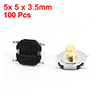 100 Pcs 4x4x3.5mm 4-Pin SMD Momentary Tactile Tact Push Button Switches