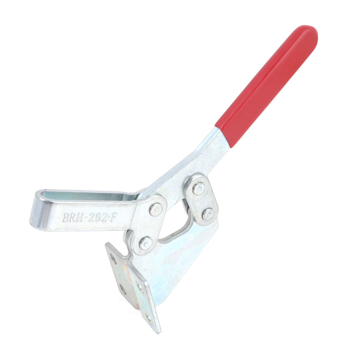 202F 227Kg 500 Lbs Quick Release Holding U Shaped Bar Flange Base Red Straight Handle Horizontal Toggle Clamp