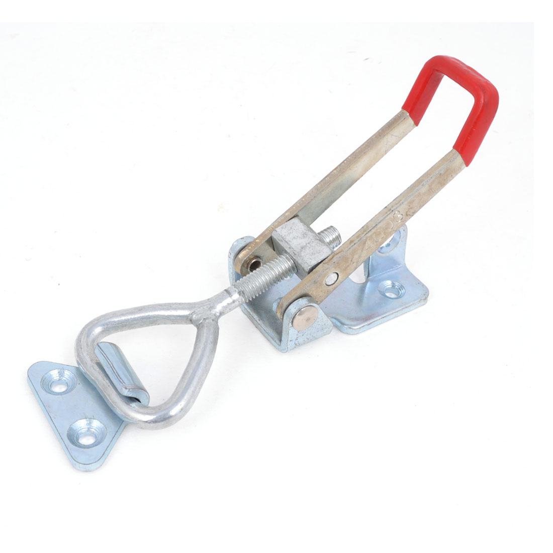 Plastic Cover Lever Door Button Type Metal U Nonslip Handle Triangle Shaped Lever Holding Capacity 300Kg 661 Lbs Latch Toggle Clamp 4003