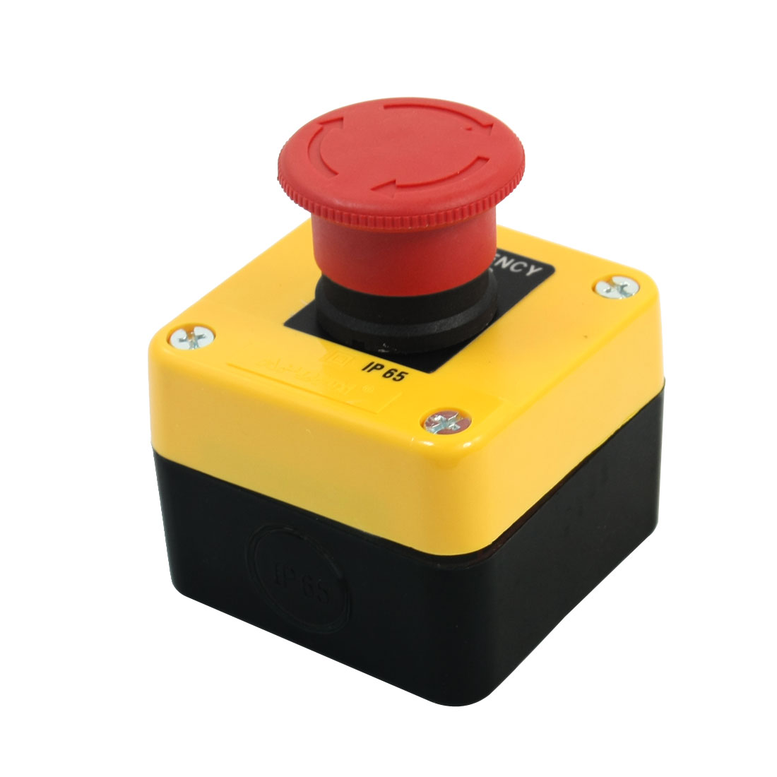 Ui 660V Ith 10A SPST 2 Screw Terminal Push Locking Rotary Reset Red Mushroom Head Elevator Emergency Stop Pushbutton Switch