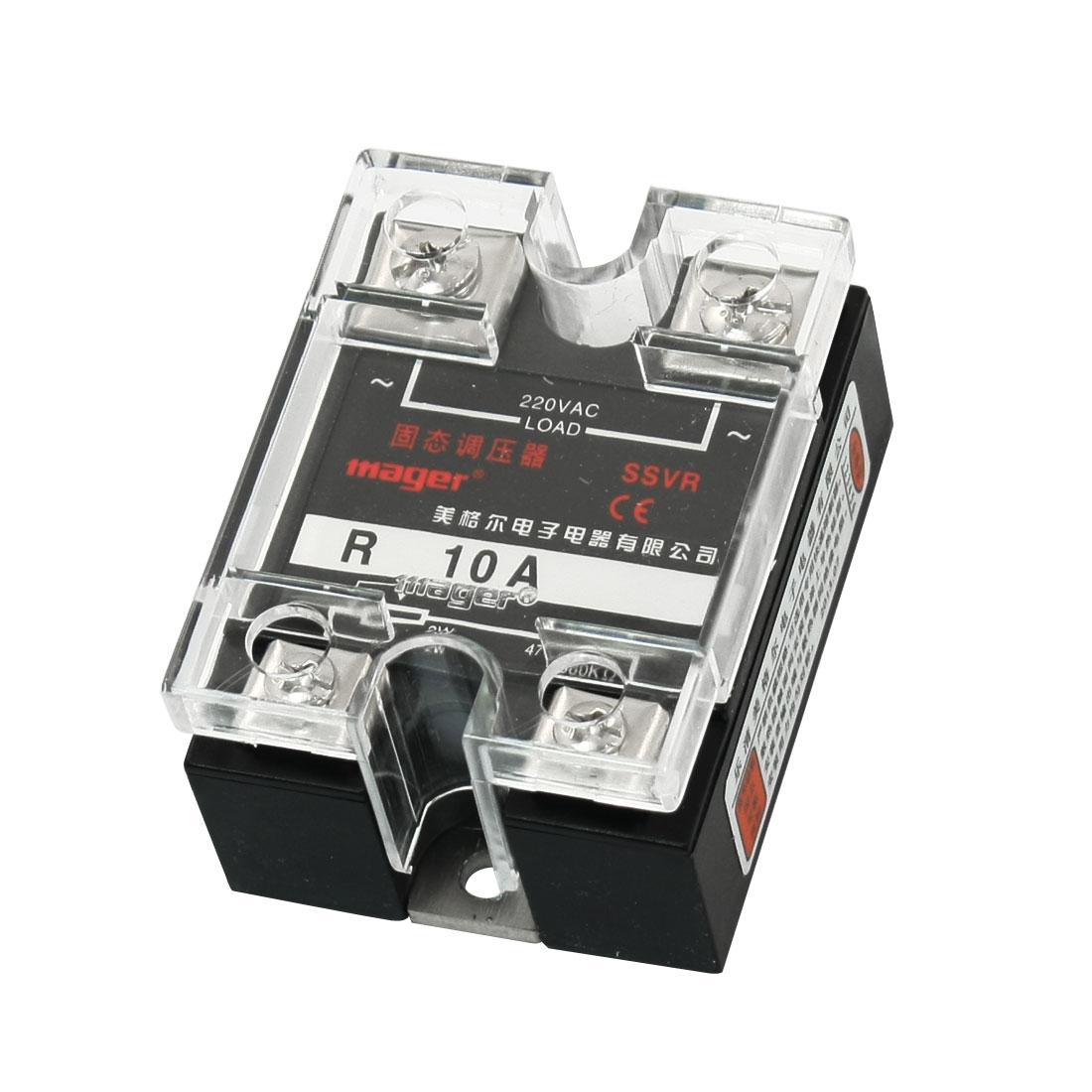 AC220V 10A 2W 470-560K Ohm Resistance Adjustable Type Single Phase SSVR Solid State Voltage Regulator