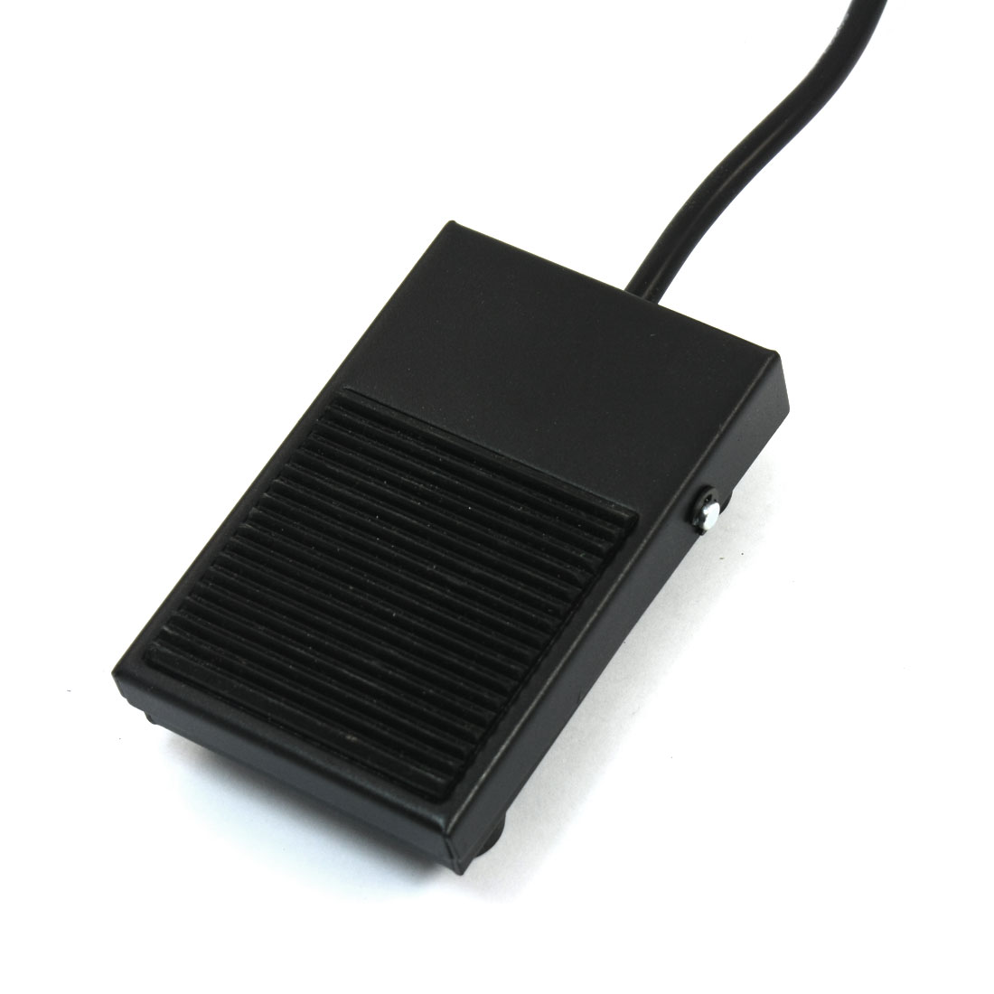 CFS-1 250V 10A SPDT 1NO 1NC Handsfree Momentary Actuator Nonslip Black Rectangle Metal Foot Pedal Switch 2m 6.6ft