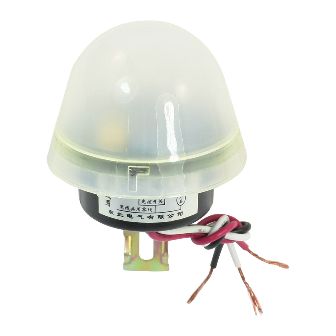 AC 220V 10A 3-Wire Connect White Waterproof Cap Automatic On Off Light Control Sensor Switch for Street Lamp
