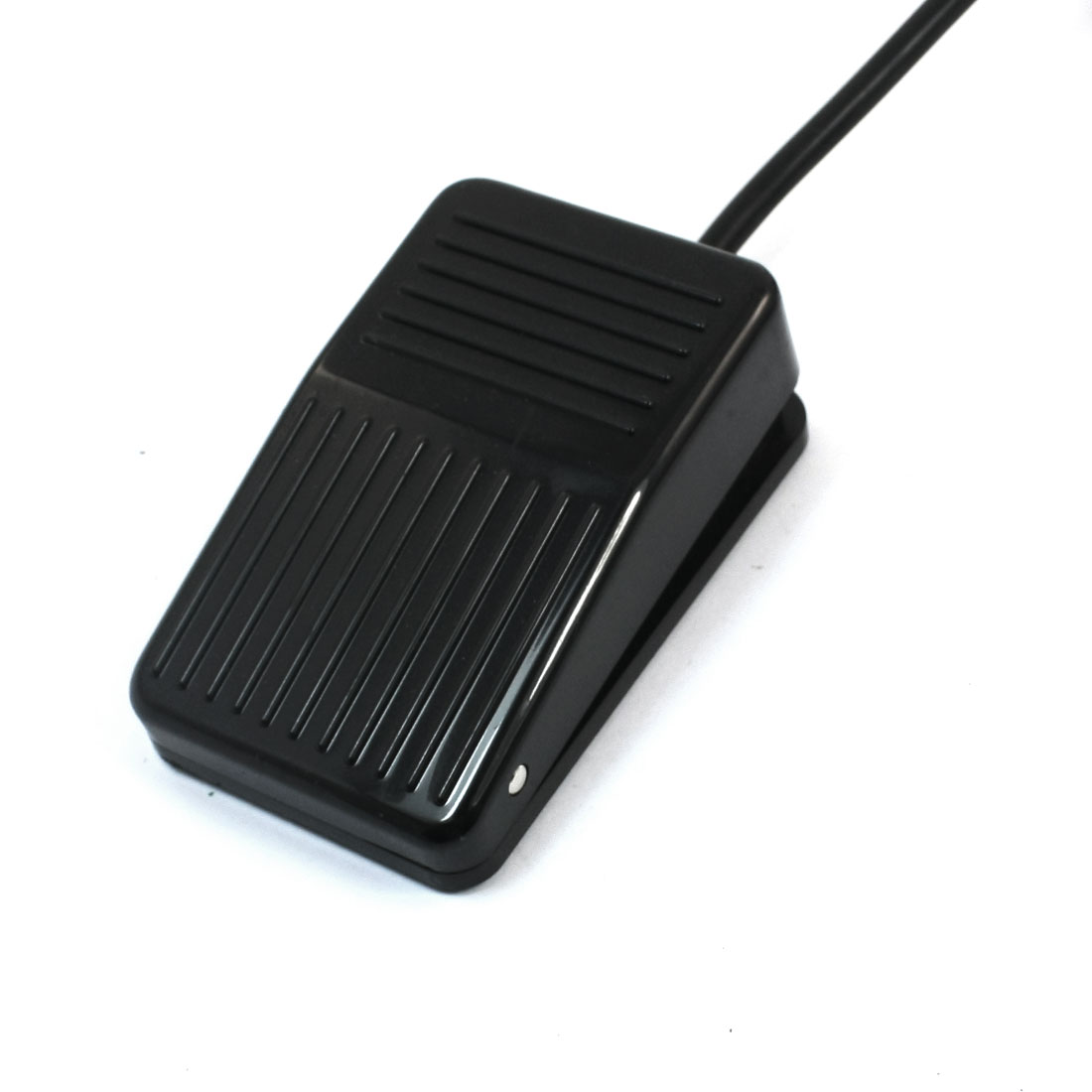 250V 10A 1m 3.3ft Wire SPDT 1NO 1NC Momentary Actuator Hand Free Nonslip Black Foot Pedal Switch CFS-01