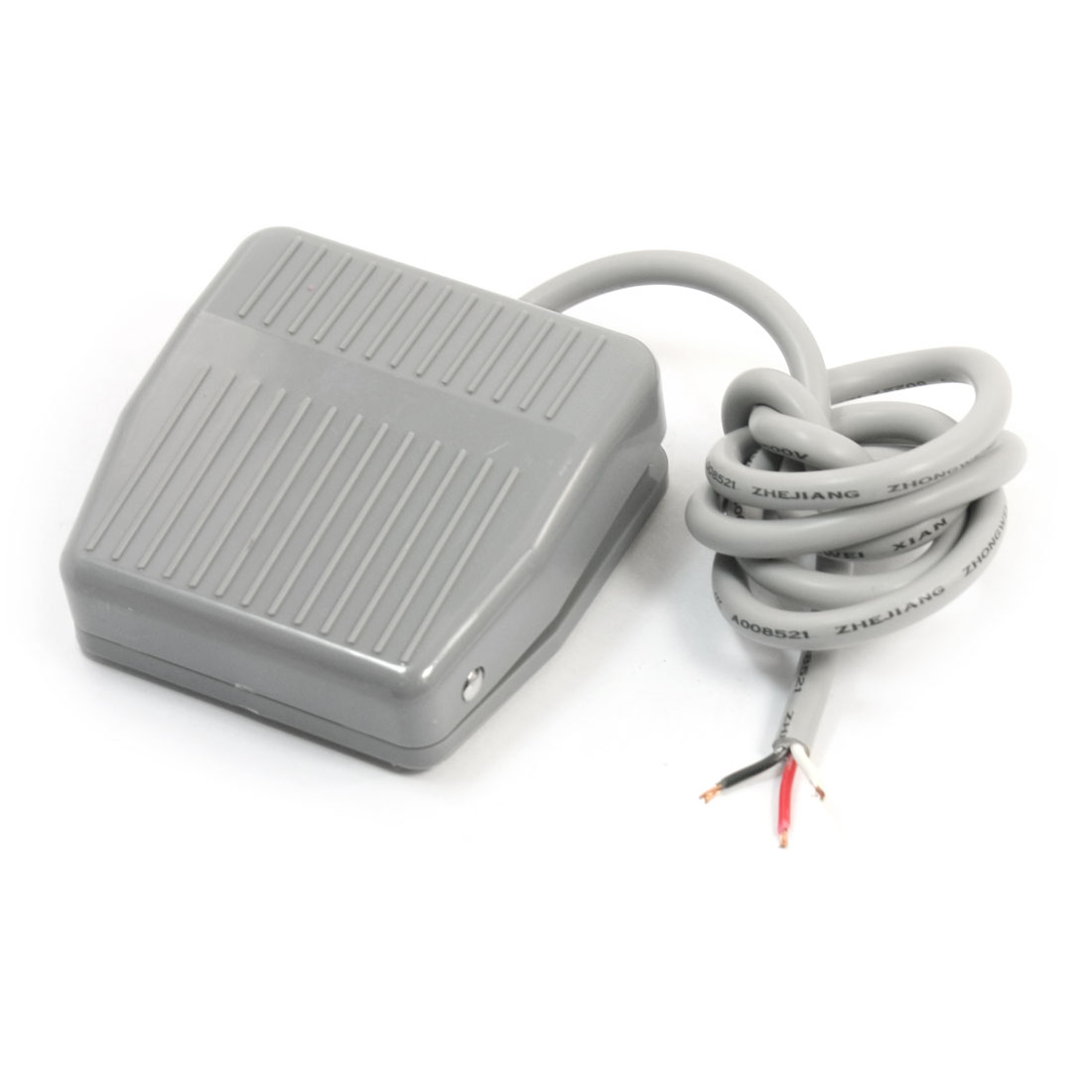 Ui 250V Ith 10A SPDT 1NO 1NC Momentary Hand Free Nonslip Gray Metal Foot Pedal Switch 1m 3.3ft CFS-201