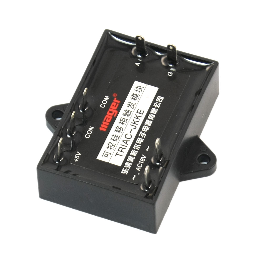 Triac-Jkke 5V Input 7-Pin Black Rectangle Solid State Relay Diode Triac Phase Shifter Trigger Touch Block