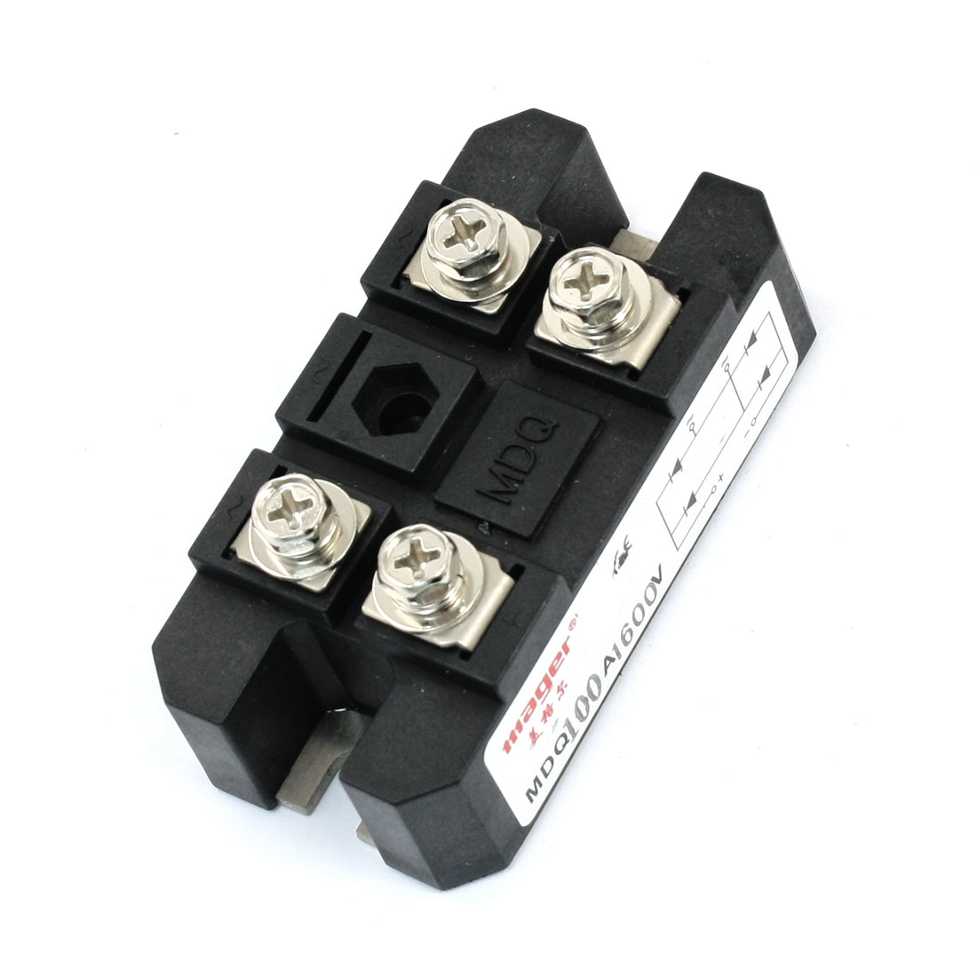 1600V Repetitive Reverse Voltage 100A 4 Screw Terminals Single Phase Semi-Conductor Diode Module Bridge Rectifier