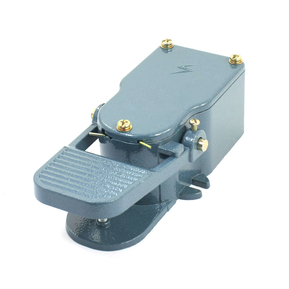 380V 15A SPDT 1NO 1NC Momentary Action Handsfree Nonslip Metal Case Industrial Electric Engine Foot Pedal Switch