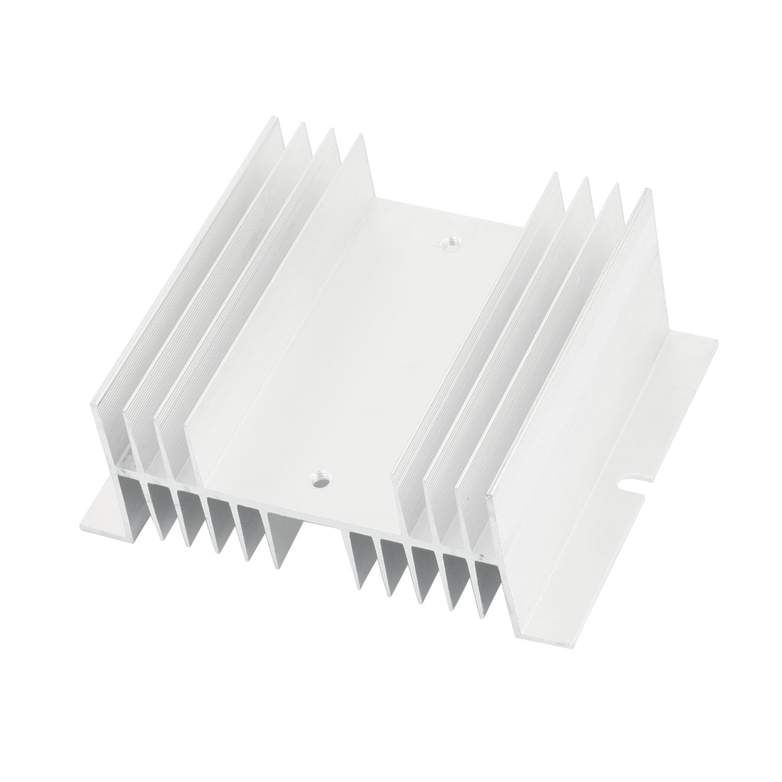Silver Tone Aluminum Heat Dissipation Heatsink Cooling Fin for 100mm x 50mm Solid State Relay