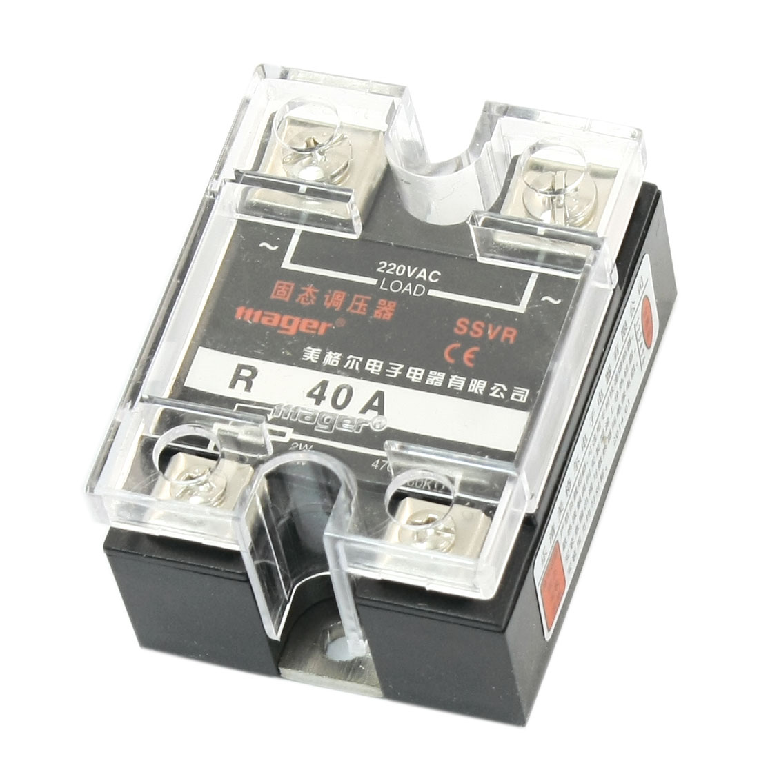 AC220V 40A 2W 470-560K Ohm Resistance Type Single Phase SSR Voltage Regulator SSVR