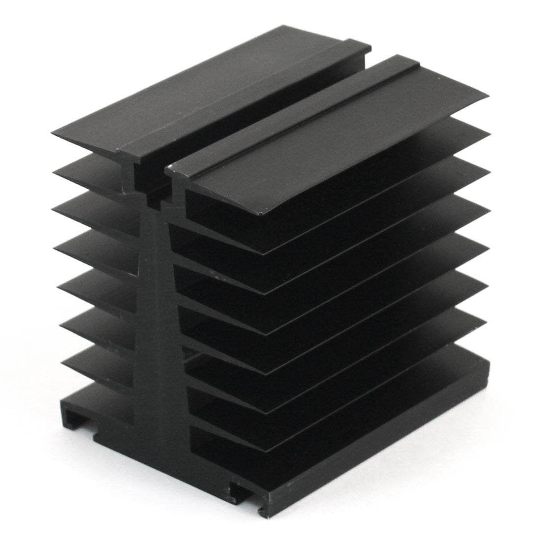 Black Aluminum Single Phase Solid State Relay Heat Diffuse Heatsink Cooling Fin 80mm x 80mm x 66mm