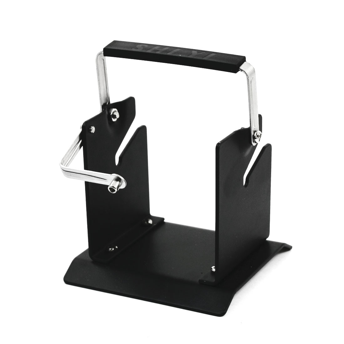 3mm Hole Adjustable Black Square Metal Base Electric Soldering Iron Tin Wire Stand Holder Support Bracket Station